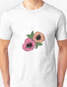 Exotic Bright Hibiscus Flowers T-Shirt