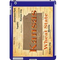Aged Kansas State Pride Map Silhouette  iPad Case/Skin