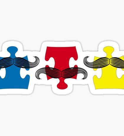 MUSTACHE PUZZLE Sticker