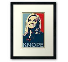 Knope Framed Print