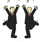 Two grooms dancing to celebrate civil union. by KateTaylor