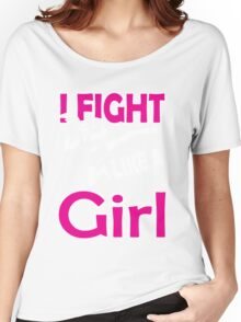 Martial arts: I fight like a girl Women's Relaxed Fit T-Shirt