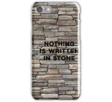 Nothing Is Written In Stone. Irony Pun. Witty Sarcasm Saying T-shirt iPhone Case/Skin
