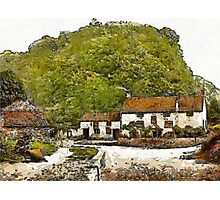 A digital painting of Sir Francis Drake's House (Blakeney) near Severn Bridge, Gatcombe, England 19th century Photographic Print