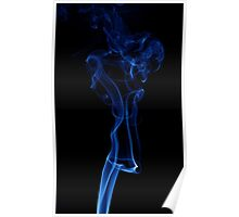 Smooth Smoke on Black Poster