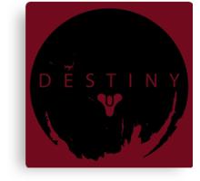 Destiny - Black Logo by AronGilli Canvas Print