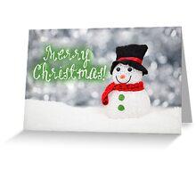 Merry Xmas 010 - GREEN Greeting Card