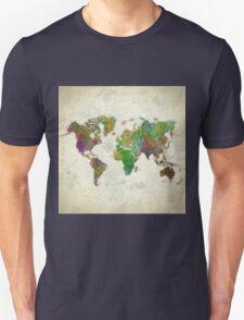 World Map Color Unisex T-Shirt