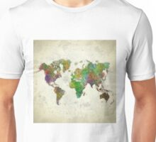 World Map Color Unisex T-Shirt