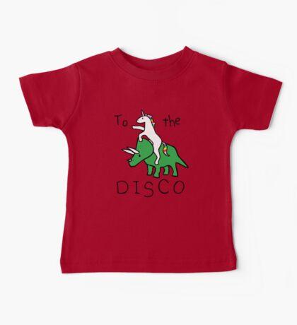 To The Disco (Unicorn Riding Triceratops) Baby Tee