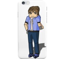 Minecraft boy with his hand up iPhone Case/Skin