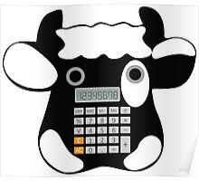 Cowculator Math Cow Pun. Geek Humor Tee Shirt Poster