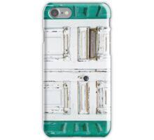 Green White Door Rustic Door iPhone Case/Skin
