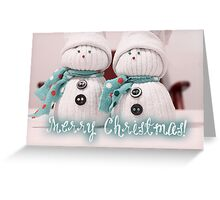 Merry Xmas 015 - TURQUOISE Greeting Card