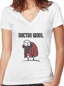 Doctor Wool Women's Fitted V-Neck T-Shirt