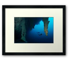 Blue Hole Belize Framed Print