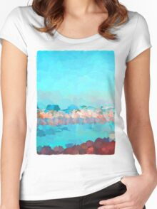 Turquoise Waves Rolling In Women's Fitted Scoop T-Shirt