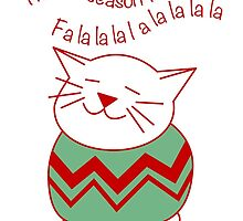 Cat in Christmas Sweater by Sue Cervenka