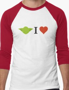 Yoda I Love Men's Baseball ¾ T-Shirt