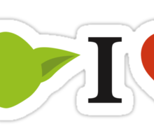 Yoda I Love Sticker