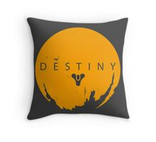 Destiny - Yellow Logo by AronGilli Throw Pillow