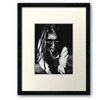 The wisperer (self portrait) Framed Print