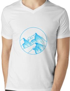Alps Asunder Mens V-Neck T-Shirt
