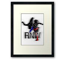 Rant N' Wrestling Logo Framed Print