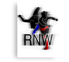 Rant N' Wrestling Logo Canvas Print
