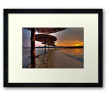 Dalmatian Sunset Framed Print