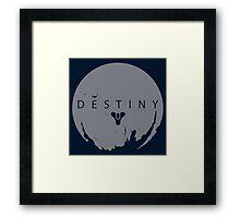 Destiny - Grey Logo by AronGilli Framed Print