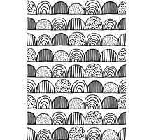 Black and White Doodles 1 Photographic Print