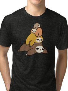 Sloth Stack Tri-blend T-Shirt