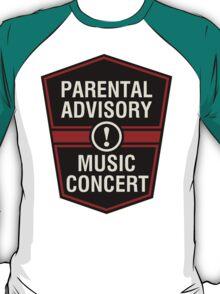 Prental Advisory Music Concert T-Shirt