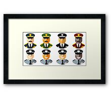 Police Officers & Chiefs Framed Print