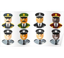 Police Officers & Chiefs Poster