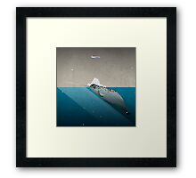 The lonely Narwhal Framed Print