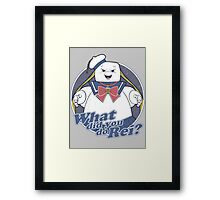 What did you do Rei? Framed Print