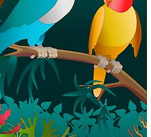 lovebirds by kathrynkonkle