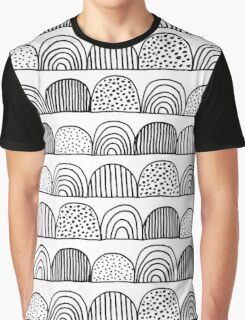 Black and White Doodles 1 Graphic T-Shirt