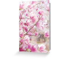 April's Pink and White Greeting Card
