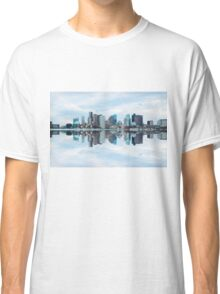 Boston skyline reflection Classic T-Shirt