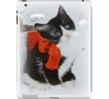 Kitten with red bow iPad Case/Skin