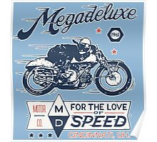Megadeluxe Vintage Motorcycle Poster