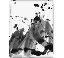 Abstract in black and white iPad Case/Skin