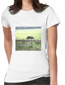 Fence walking Womens Fitted T-Shirt