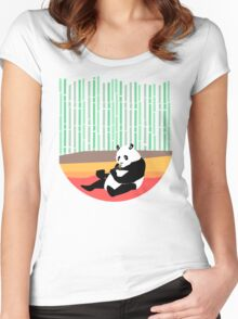 Panda Loves Noodles Women's Fitted Scoop T-Shirt