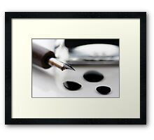 Quill and Ink Framed Print