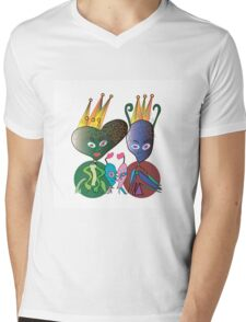 The Space Royal Family Mens V-Neck T-Shirt