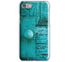Rustic Green Door iPhone Case/Skin